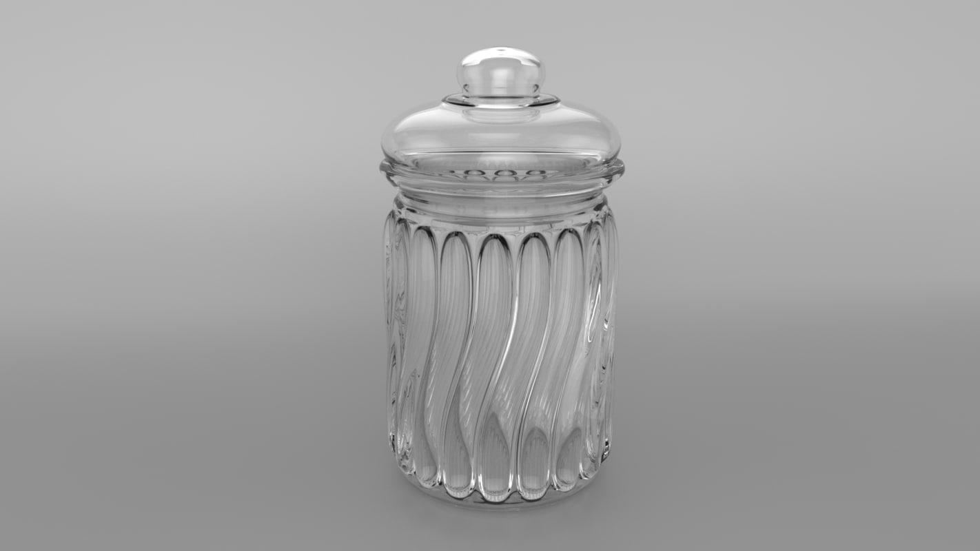 3d model jar candy