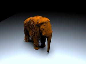 3d model baby woolly mammoth