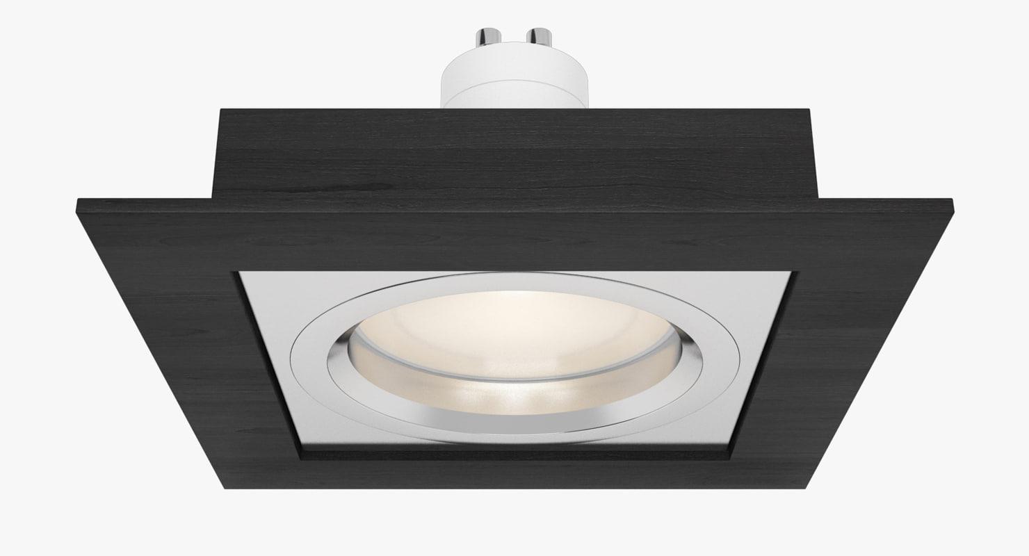 3d model downlight spotlight light