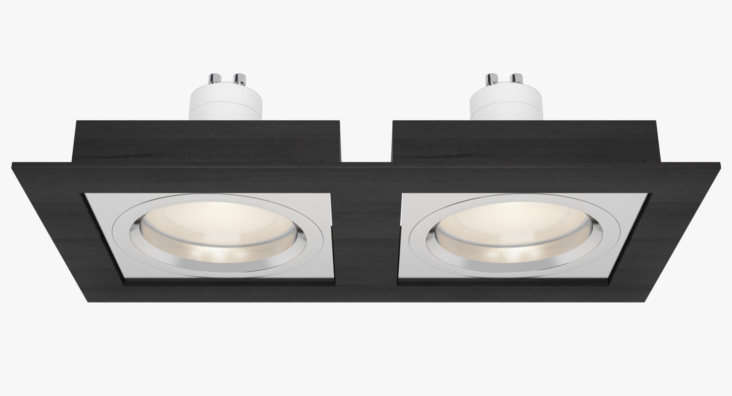 3d model downlight spotlight light