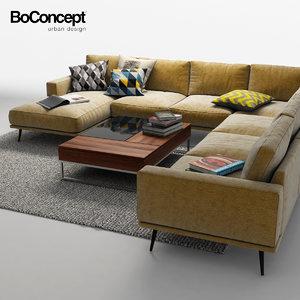 boconcept sofa 3d obj