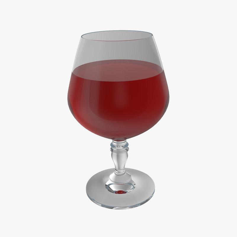 wineglass wine 3d model