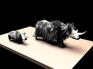 woolly rhinoceros 3d max