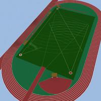 3d model sports field
