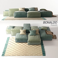 bonaldo peanut b sofa 3d model