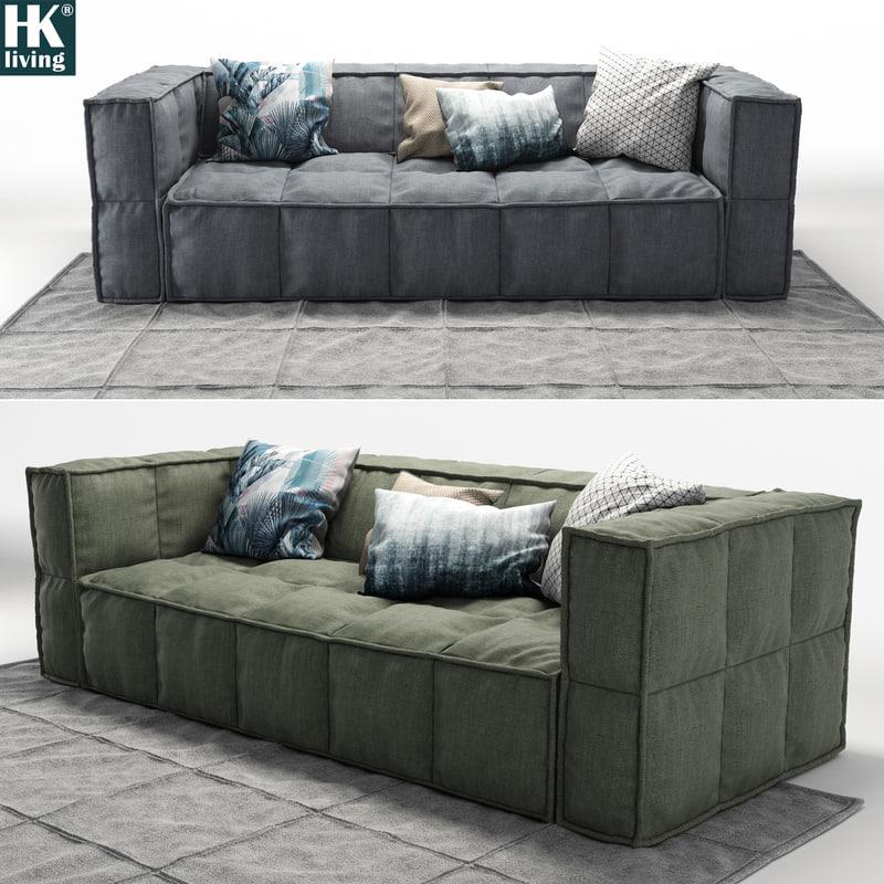 3d hkliving sofa
