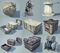 Game Ready Star Wars Cannons and Crates Collection