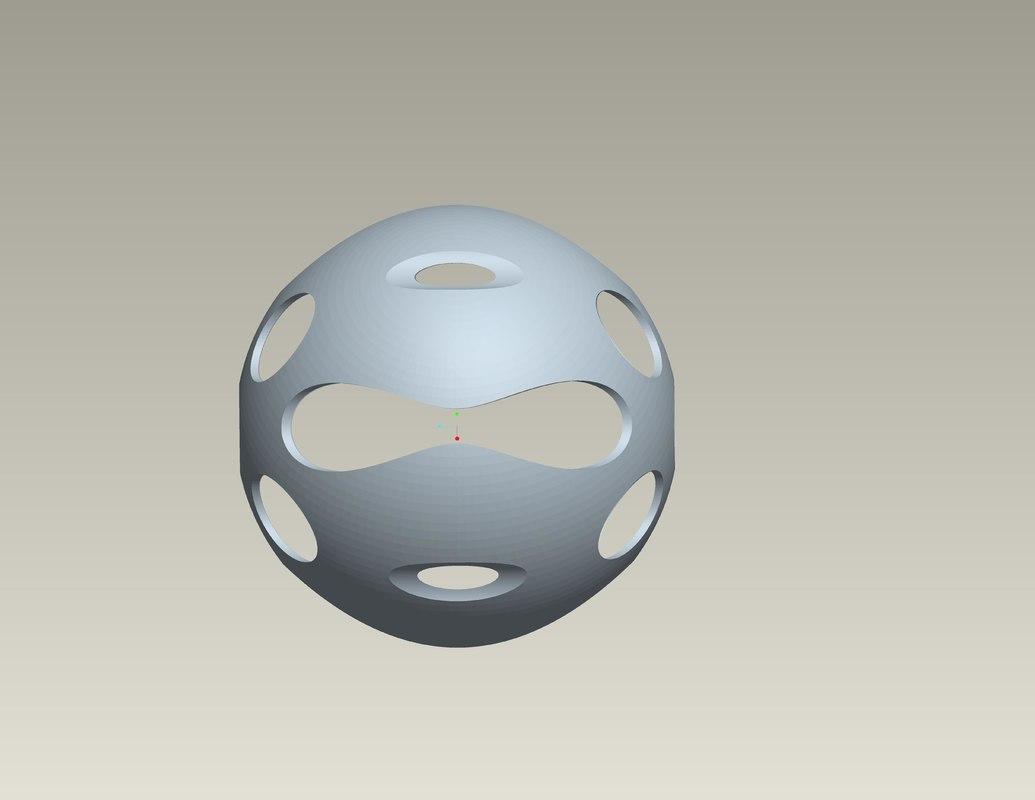 decorative ball 2 3ds