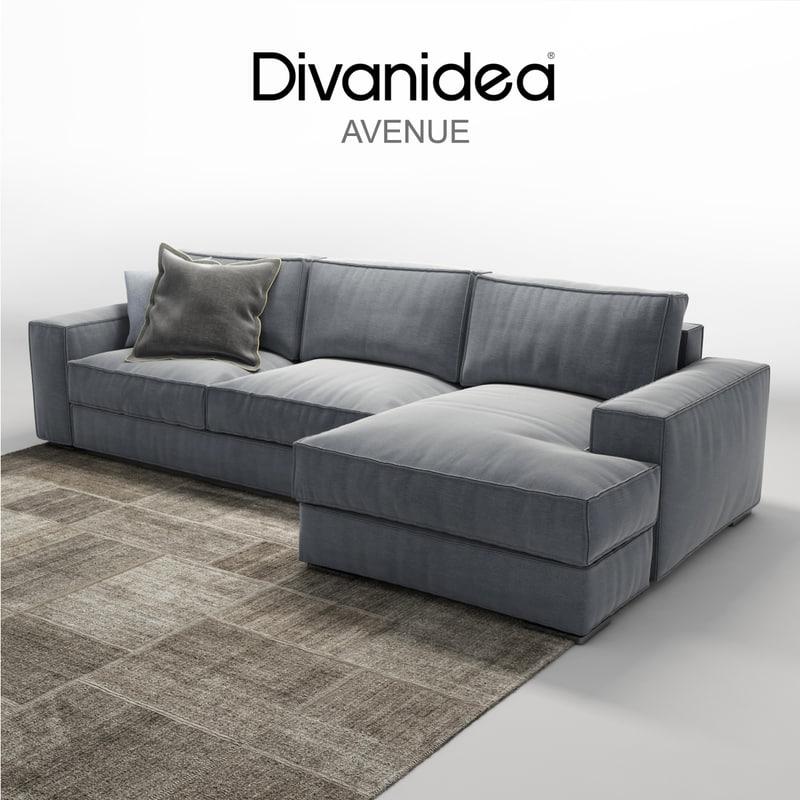 3d divanidea avenue sofa