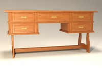 old writing desk 3d max