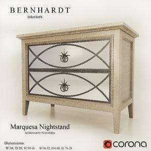 marquesa nightstand bernhardt 3d model
