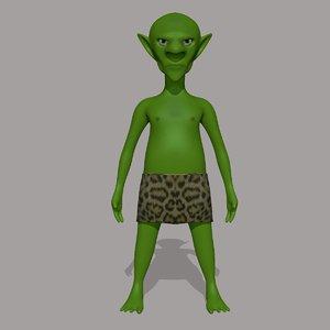 goblin character 3d obj
