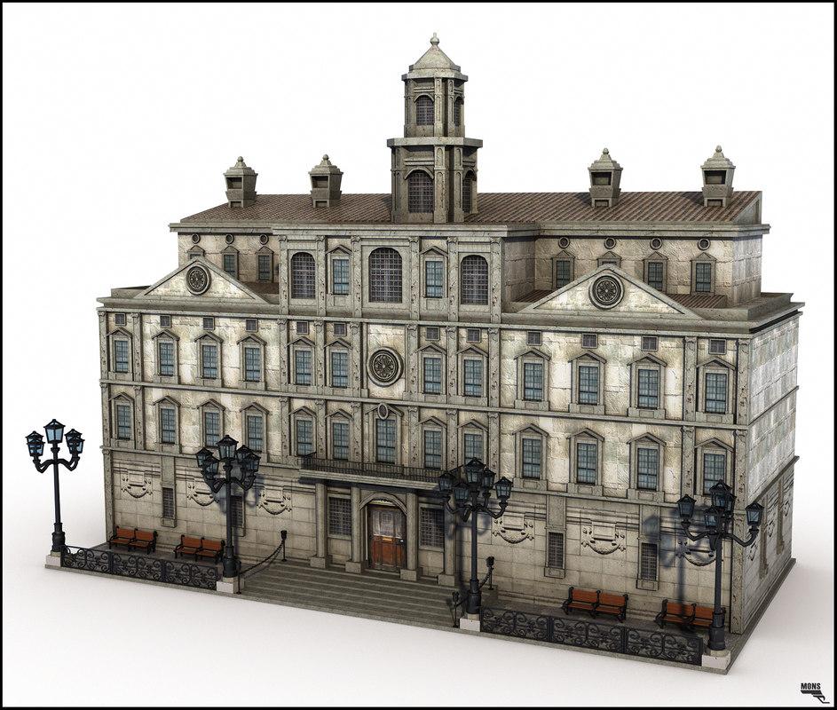 3d model building architecture