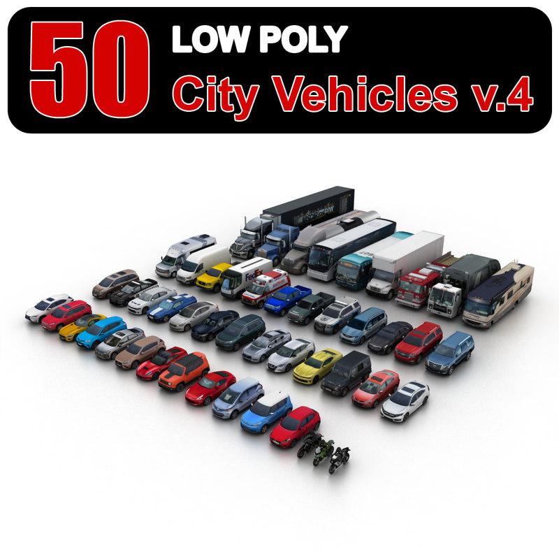 city vehicles 3ds
