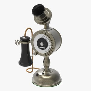 3d antique dial candlestick
