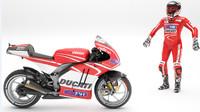 3d model of ducati rider