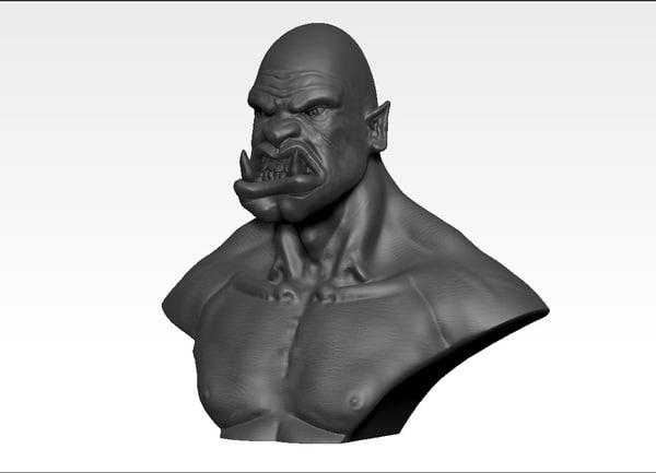 orc sculpture 3d 3ds
