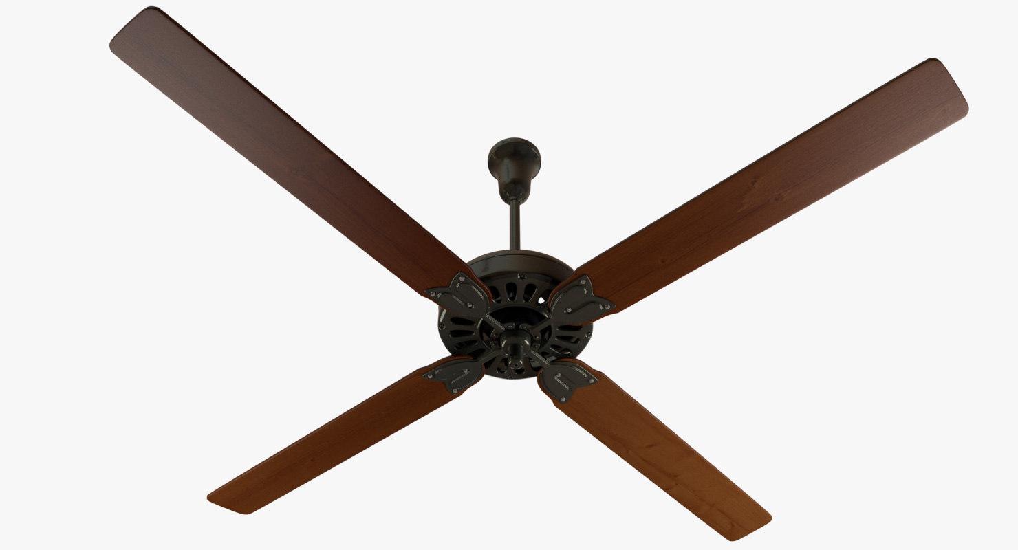 ceiling fan 1940s obj