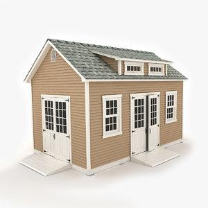 3d model garden shed 02