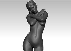 3d model female figurine