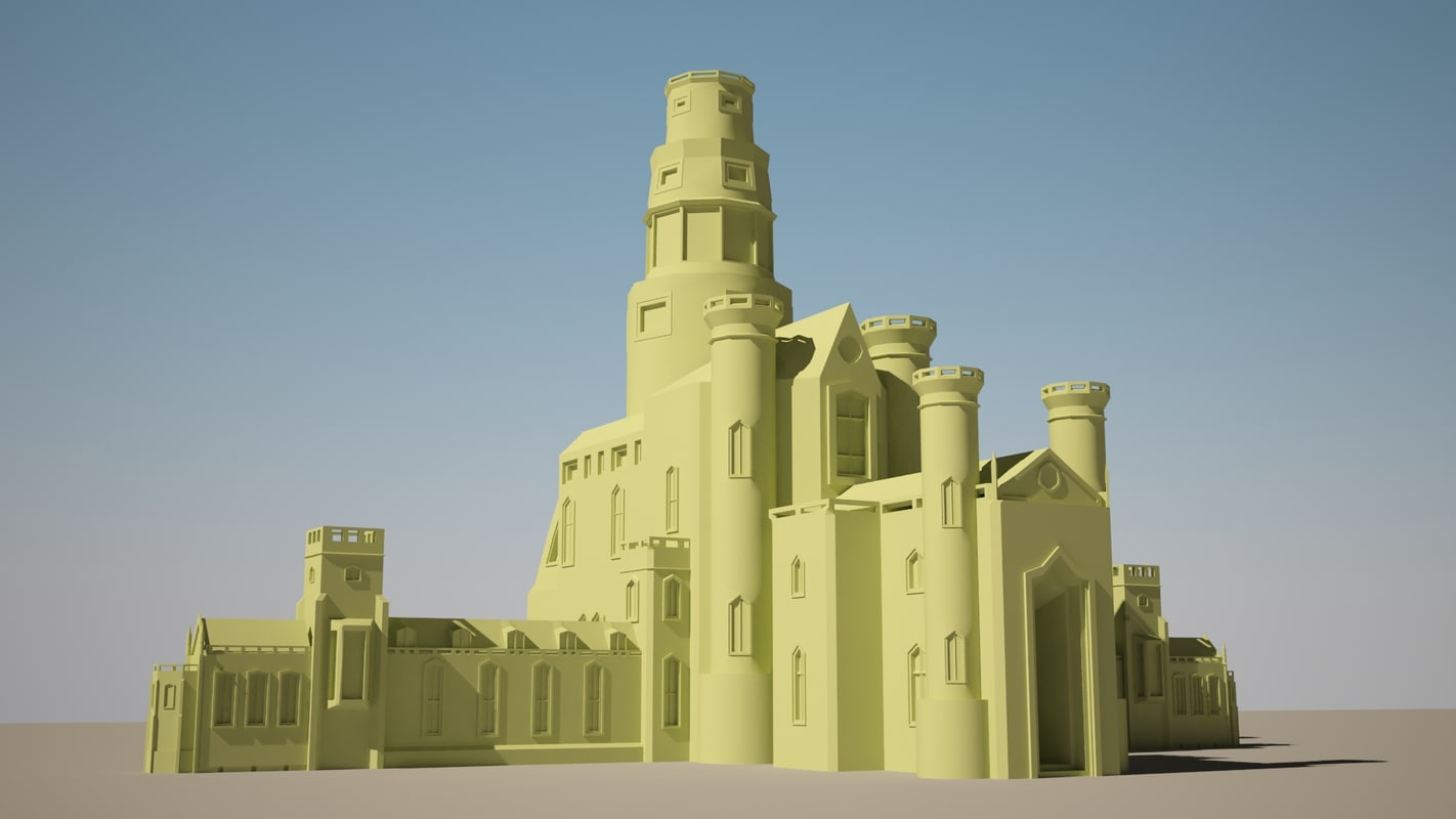 sand castle fantasy 3d model