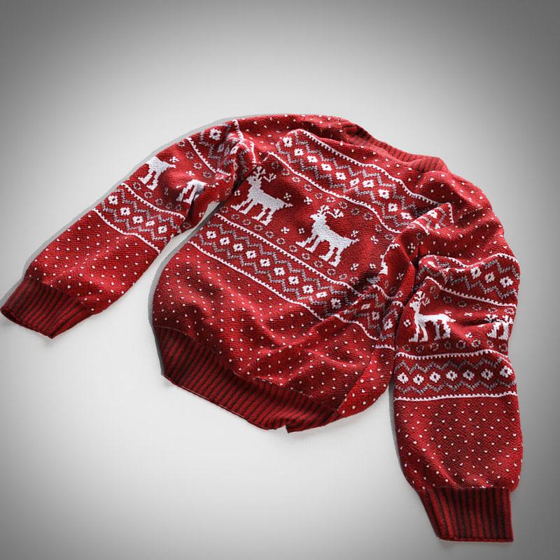 pullover scandinavian 3d max