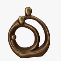 3d model of family circles statue