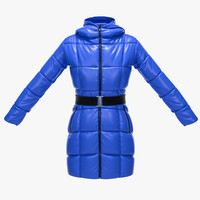 female winter jacket 3d max