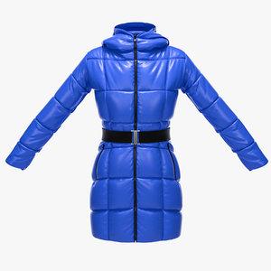 female winter jacket 3d max