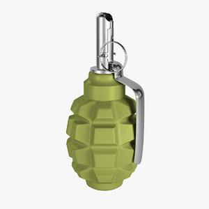 free grenade 3d model