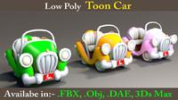 3d toon cars model