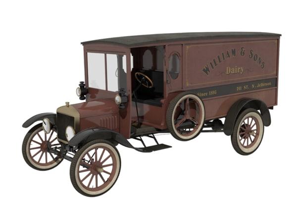 3d model t truck modeled