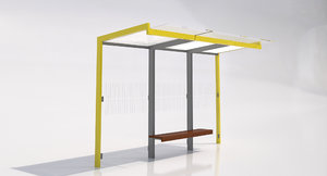 3d mmcite geomere 300 bus shelter