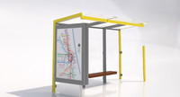 mmcite street geomere bus shelter 3ds