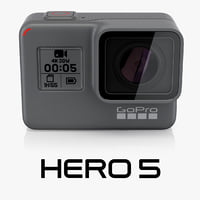 3d model gopro hero5 black
