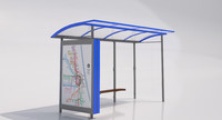 3d mmcite skandum 110b bus shelter model