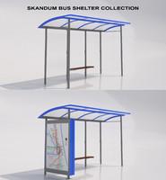 3d max skandum bus shelter