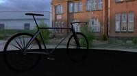 3d race bike model