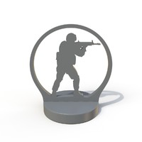 3d model counter strike printable