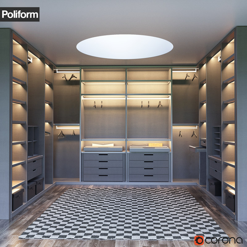 senzafine walk-in closet poliform max