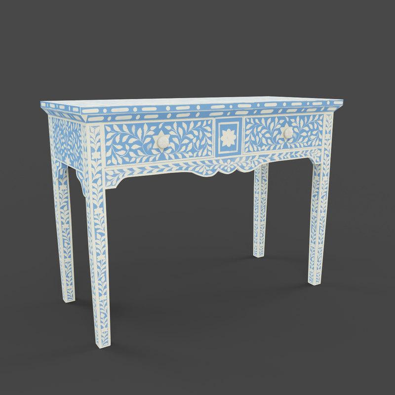 3d khalaf console table