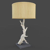 Driftwood Table Lamp with Drum Shade