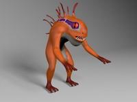 3d model frog character