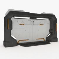Sci-Fi Door PBR