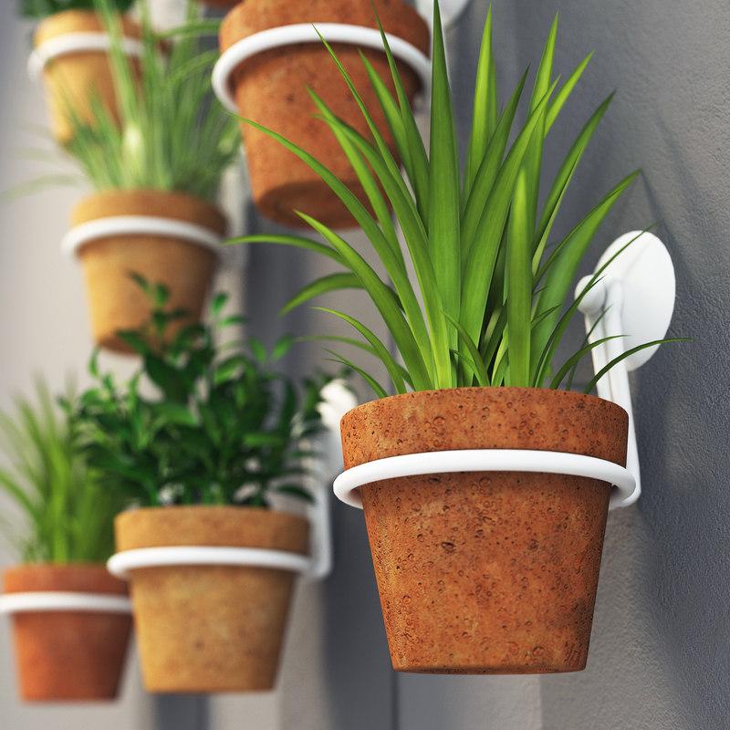 pot wall 3d max