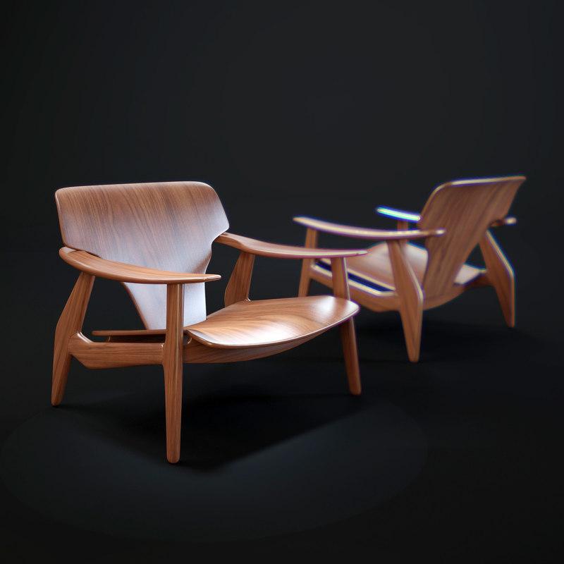 3d model diz-armchair