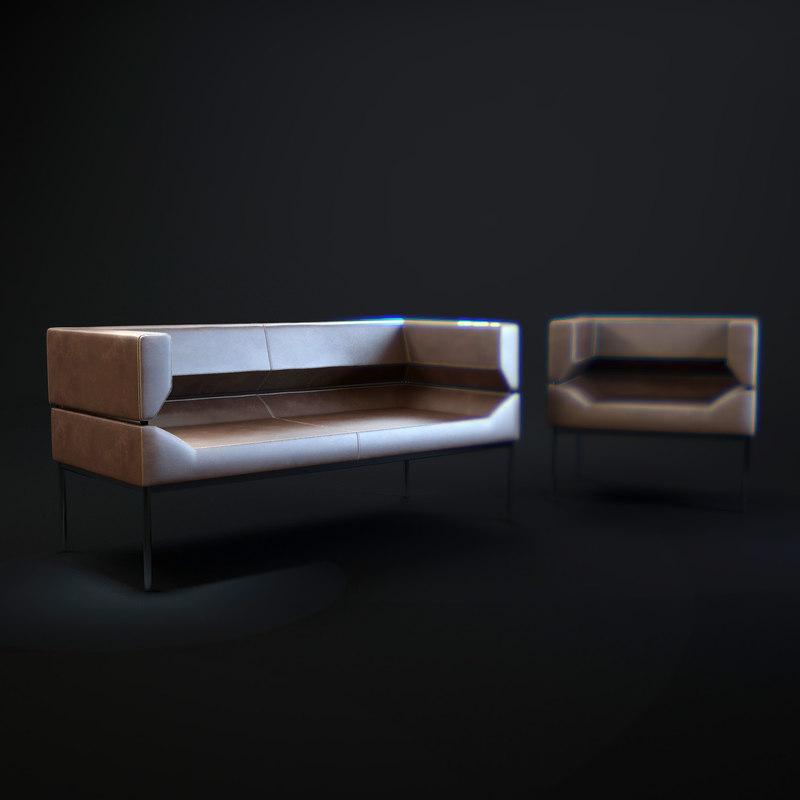 milieu-fm-sofa2 3d model