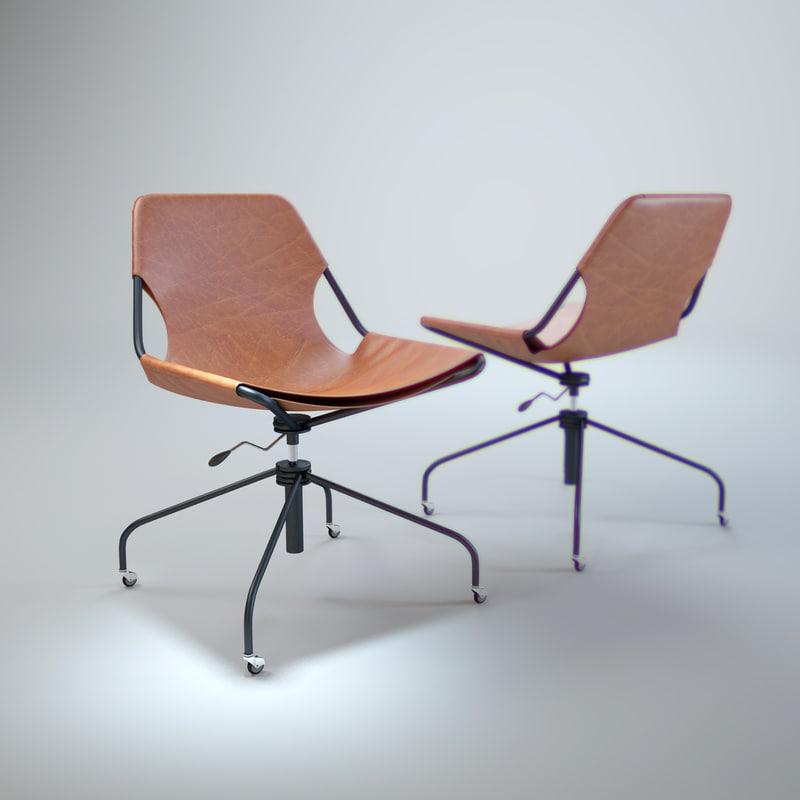 3d model paulistano-office-chair