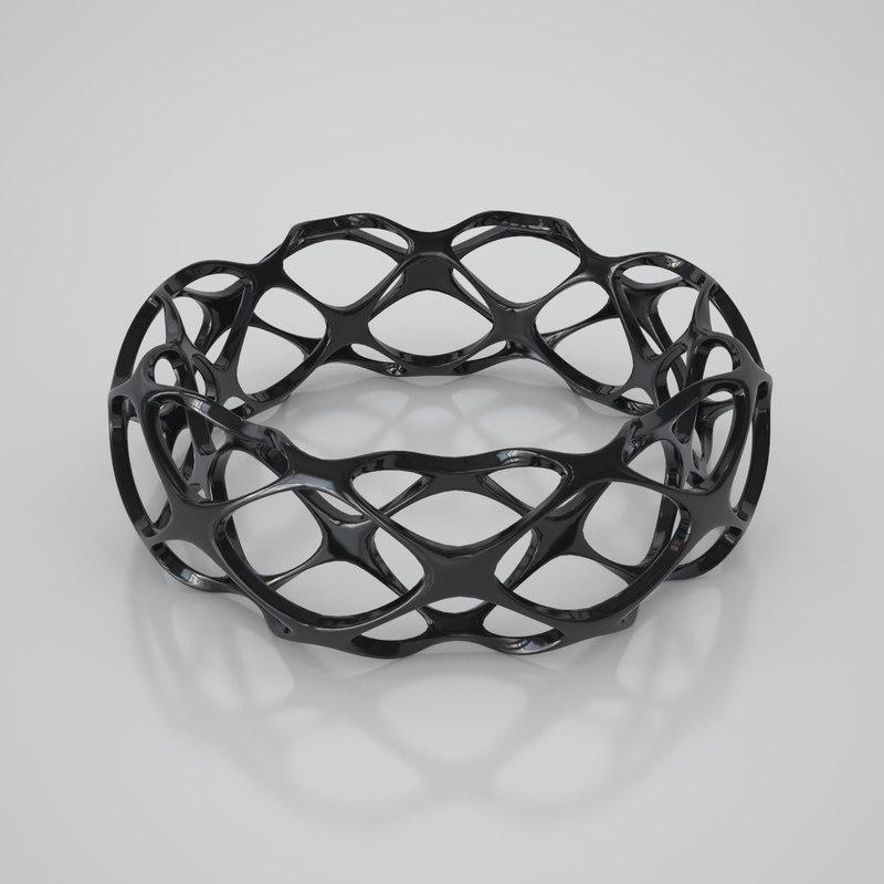 3d 3ds bracelet twisted