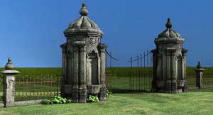 old gate 3d max